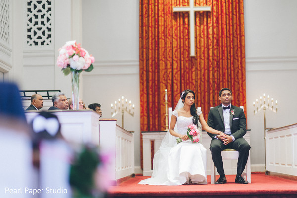 Ceremony in Rockleigh, NJ South Asian Wedding by Pearl Paper Studio