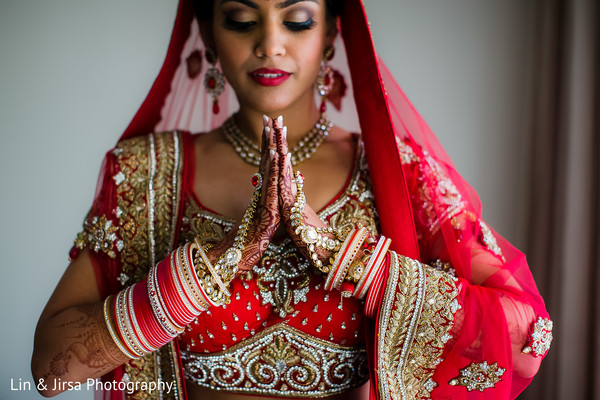 Bridal Portrait in Dana Point, CA Indian Wedding by Lin & Jirsa Photography