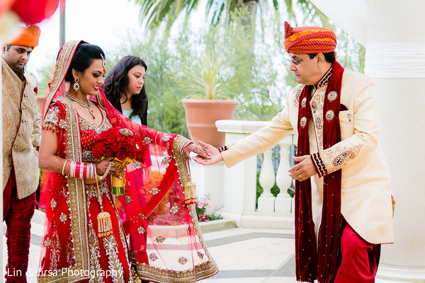 Ceremony in Dana Point, CA Indian Wedding by Lin & Jirsa Photography