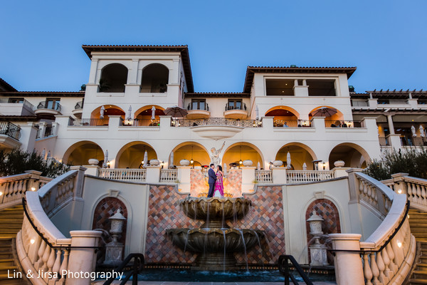 Reception Portrait & Venue in Dana Point, CA Indian Wedding by Lin & Jirsa Photography