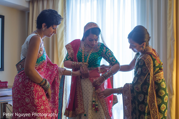 Getting Ready in Atlanta, GA Indian Wedding by Peter Nguyen Photography