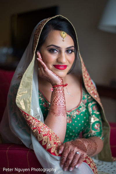 Bridal Portrait in Atlanta, GA Indian Wedding by Peter Nguyen Photography