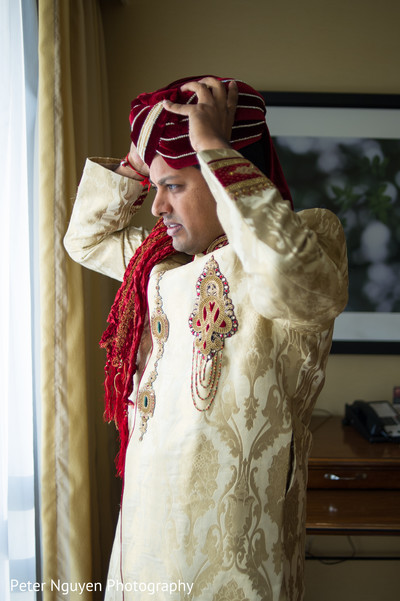 Groom Getting Ready in Atlanta, GA Indian Wedding by Peter Nguyen Photography
