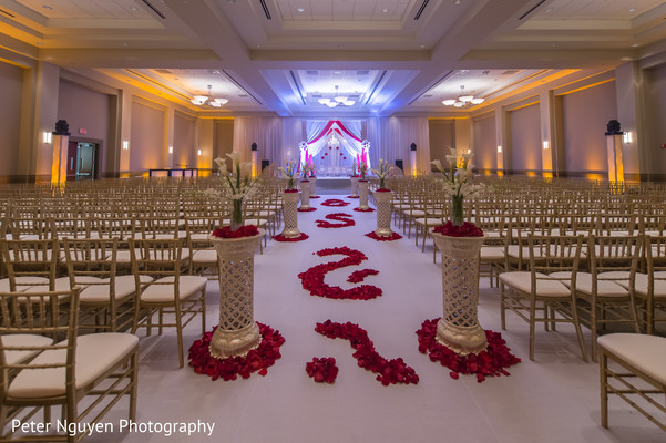 Ceremony Decor in Atlanta, GA Indian Wedding by Peter Nguyen Photography