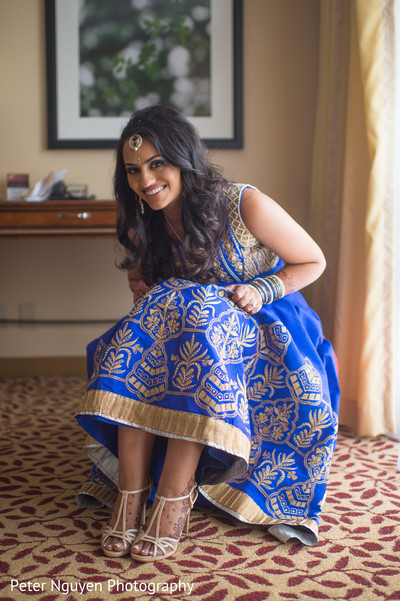 Getting Ready for Reception in Atlanta, GA Indian Wedding by Peter Nguyen Photography