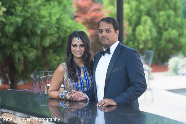 Reception Portrait in Atlanta, GA Indian Wedding by Peter Nguyen Photography