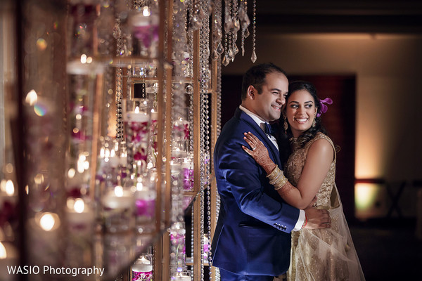 Reception Portraits in Columbus, OH Indian Wedding by WASIO Photography