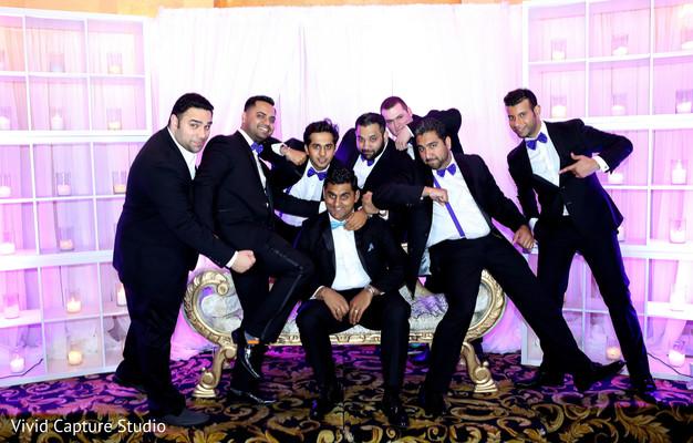indian fusion wedding reception,indian wedding portraits,indian wedding portrait,indian groom fashion,indian weddings,indian groomsmen