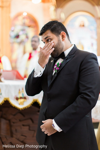 Ceremony in Lincolnshire, IL Indian Wedding by Melissa Diep Photography