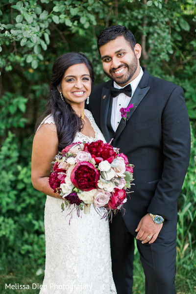 Wedding Portrait in Lincolnshire, IL Indian Wedding by Melissa Diep Photography