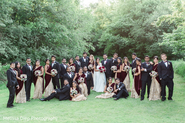 Wedding Party Portrait in Lincolnshire, IL Indian Wedding by Melissa Diep Photography
