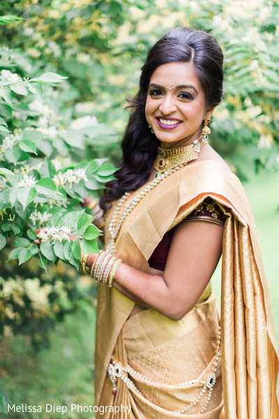 Bridal Portrait in Lincolnshire, IL Indian Wedding by Melissa Diep Photography