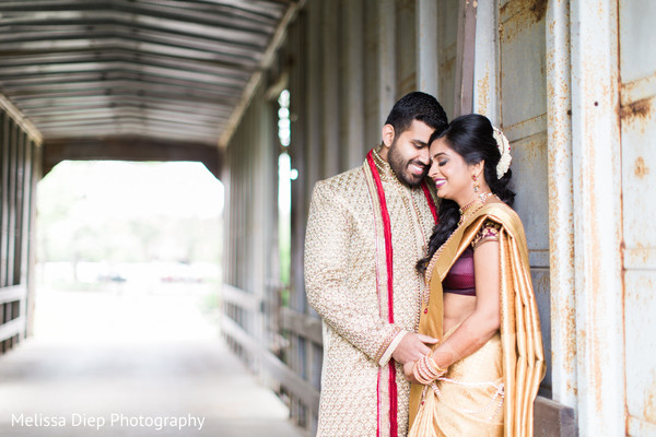 First Look in Lincolnshire, IL Indian Wedding by Melissa Diep Photography