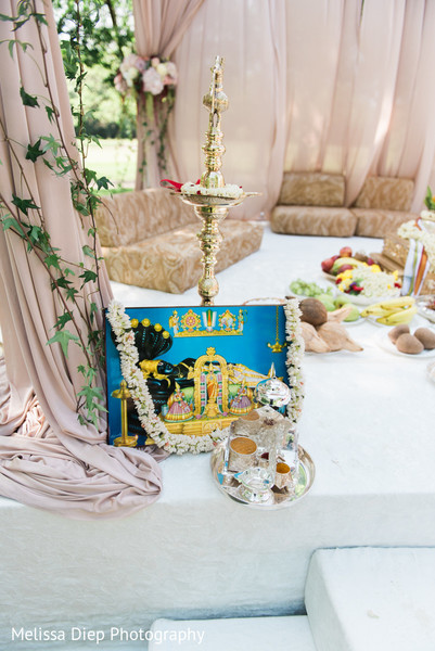 Ceremony Details in Lincolnshire, IL Indian Wedding by Melissa Diep Photography
