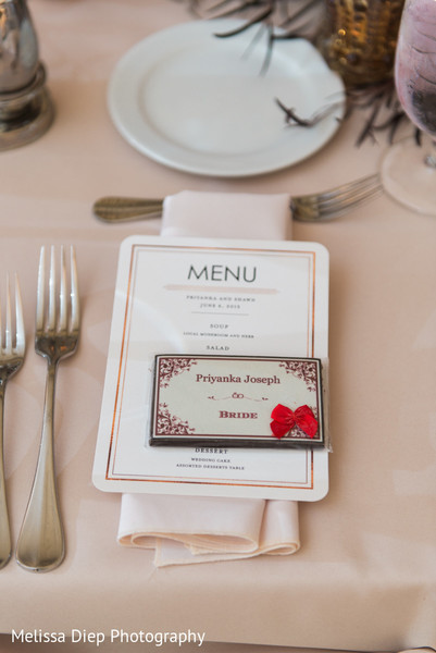 Place Settings in Lincolnshire, IL Indian Wedding by Melissa Diep Photography