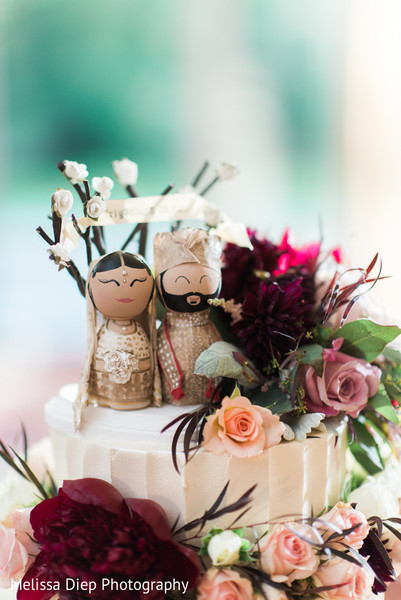 Cake Toppers in Lincolnshire, IL Indian Wedding by Melissa Diep Photography