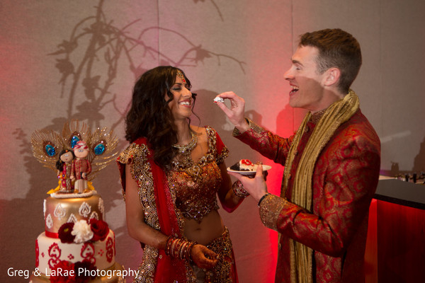 indian fusion reception,reception,cake cutting,reception fashion