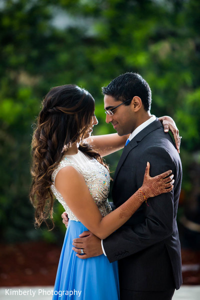 Reception Portraits in Marco Island, Florida Destination Indian Wedding by Kimberly Photography