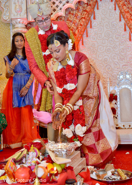 Indian Wedding Ceremony in Long Island, NY Indian Wedding by Vivid Capture Studio