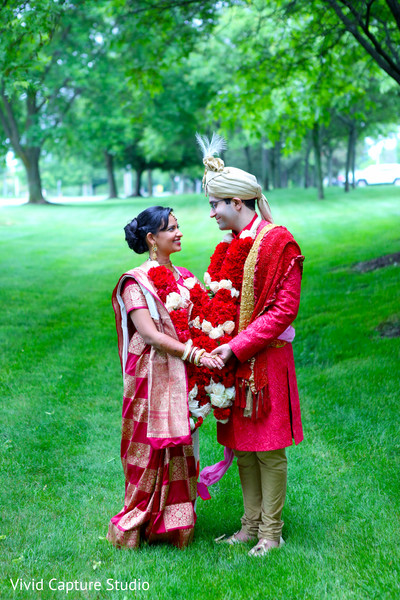 Wedding Portraits in Long Island, NY Indian Wedding by Vivid Capture Studio