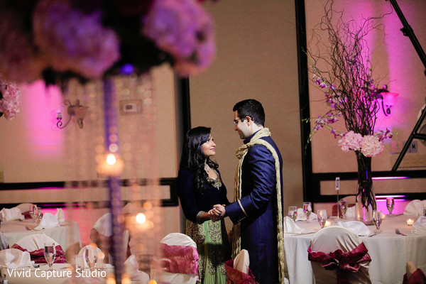 Reception Portraits in Long Island, NY Indian Wedding by Vivid Capture Studio