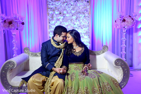 reception fashion,gown,sherwani,sweetheart stage