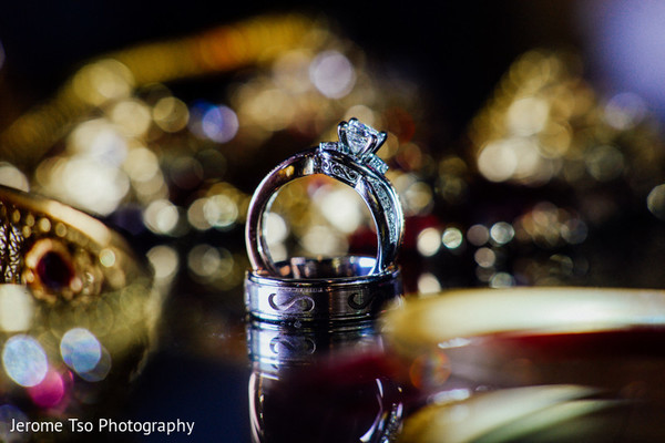 Rings in Seattle, WA South Asian Wedding by Jerome Tso Photography