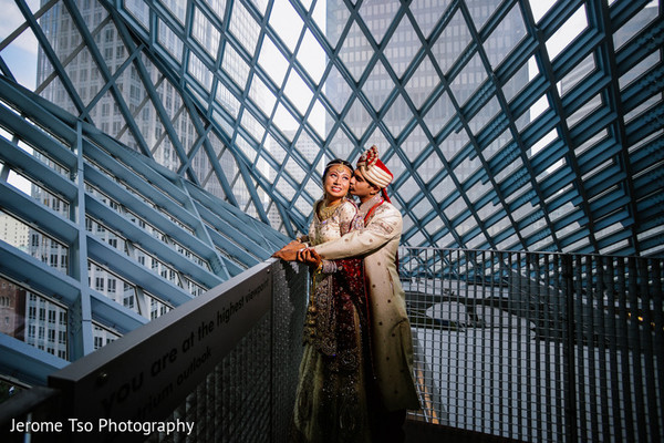Wedding Portrait in Seattle, WA South Asian Wedding by Jerome Tso Photography