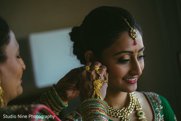 Getting Ready in Princeton, NJ Indian Wedding by Studio Nine Photography