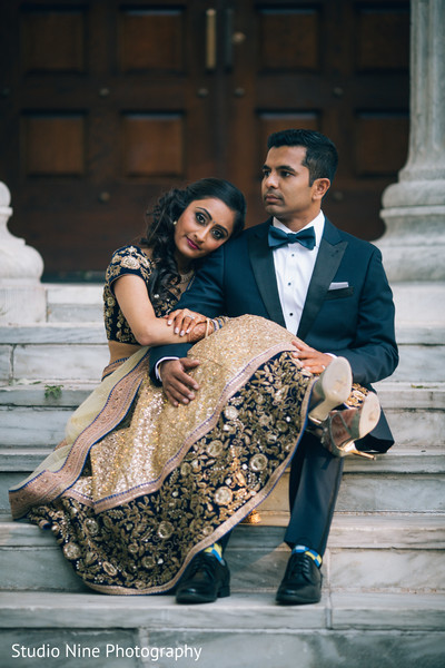 Reception Portraits in Princeton, NJ Indian Wedding by Studio Nine Photography