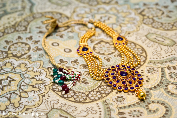 Necklace in Rockleigh, NJ Indian Wedding by Pandya Photography