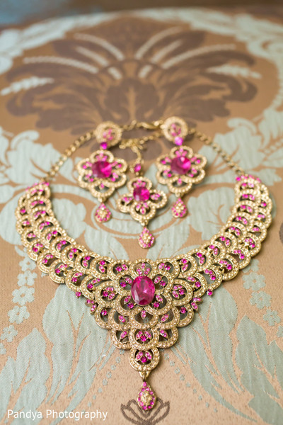 Bridal Jewelry in Rockleigh, NJ Indian Wedding by Pandya Photography