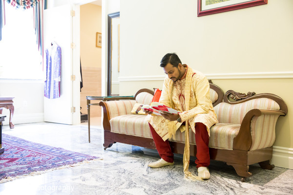 Groom Getting Ready in Rockleigh, NJ Indian Wedding by Pandya Photography