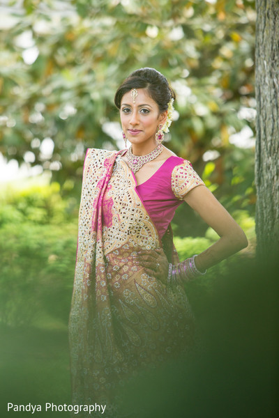 Bridal Portrait in Rockleigh, NJ Indian Wedding by Pandya Photography