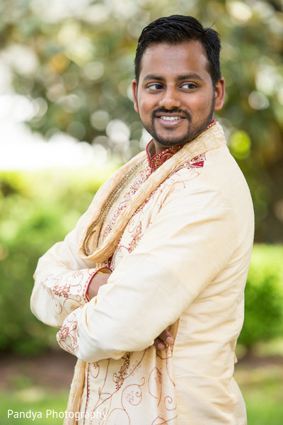 Groom Portrait in Rockleigh, NJ Indian Wedding by Pandya Photography