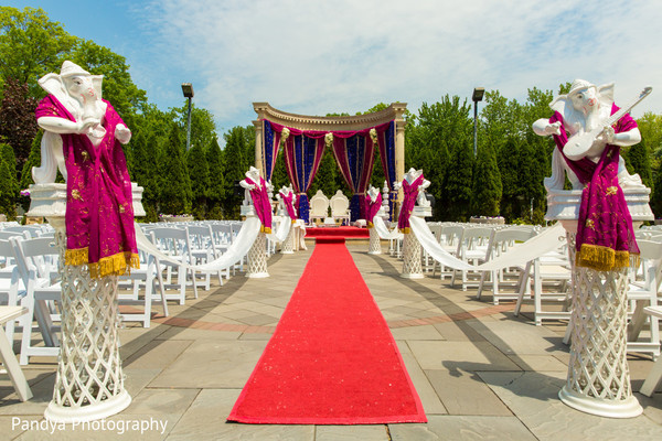 Ceremony Decor in Rockleigh, NJ Indian Wedding by Pandya Photography