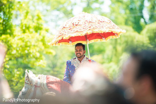 Baraat in Rockleigh, NJ Indian Wedding by Pandya Photography