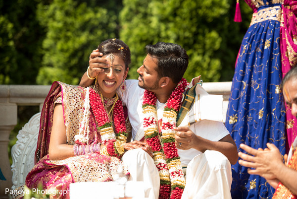 Ceremony in Rockleigh, NJ Indian Wedding by Pandya Photography