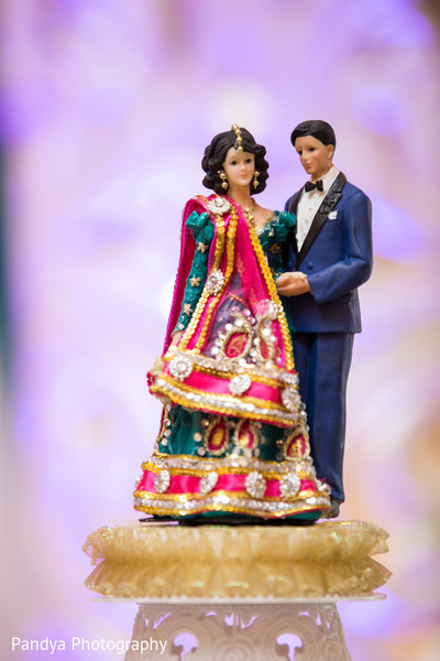 Cake Topper in Rockleigh, NJ Indian Wedding by Pandya Photography