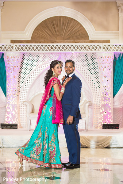 Reception Portrait in Rockleigh, NJ Indian Wedding by Pandya Photography