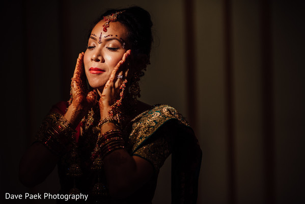 Getting Ready in Woodland Park, NJ Indian Fusion Wedding by  Dave Paek Photography