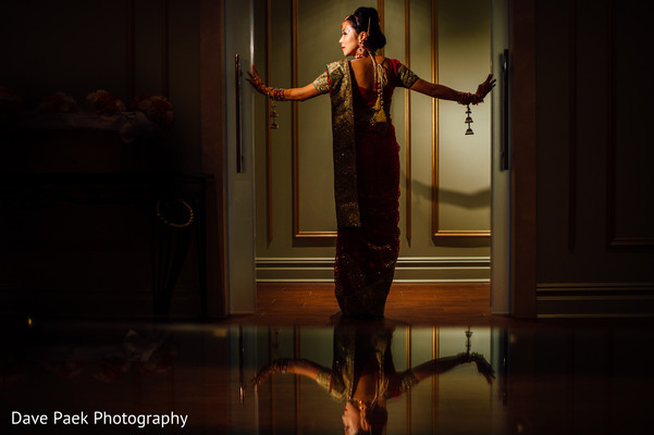 Bridal Portrait in Woodland Park, NJ Indian Fusion Wedding by  Dave Paek Photography