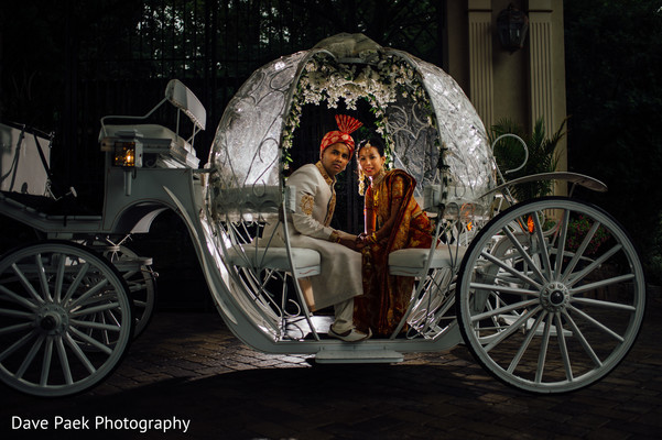 Wedding Portrait in Woodland Park, NJ Indian Fusion Wedding by  Dave Paek Photography