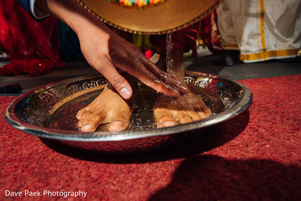 Ceremony in Woodland Park, NJ Indian Fusion Wedding by  Dave Paek Photography
