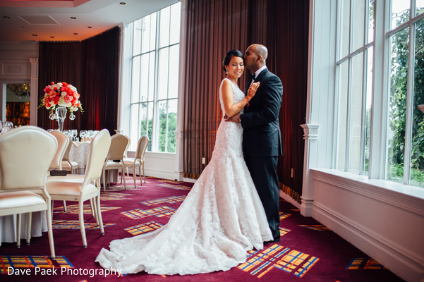 Reception Portraits in Woodland Park, NJ Indian Fusion Wedding by  Dave Paek Photography