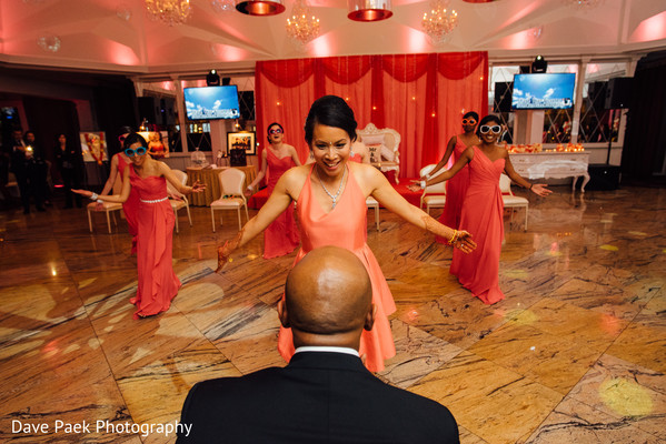 Reception in Woodland Park, NJ Indian Fusion Wedding by  Dave Paek Photography