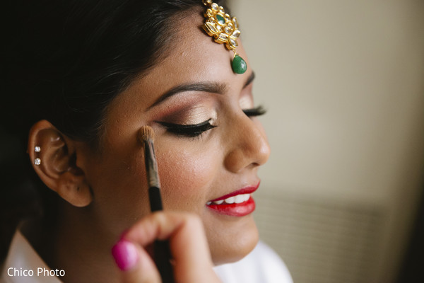 Getting Ready in Long Beach, CA Indian Wedding by Chico Photo