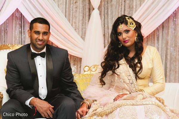 indian wedding reception,indian fusion wedding reception,indian wedding lengha,indian weddings,indian bridal hair and makeup