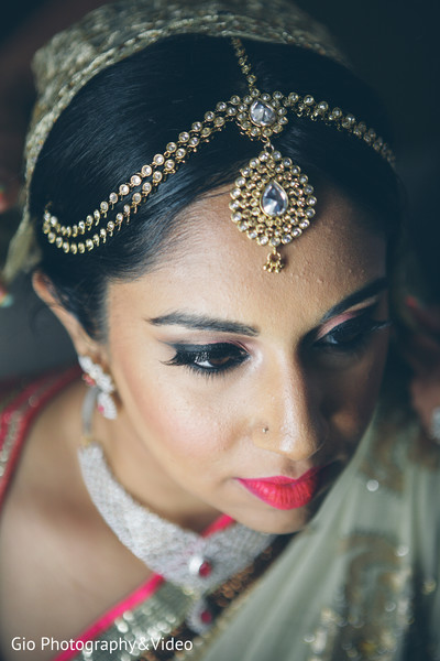 indian bride getting ready,indian bridal hair and makeup,indian weddings