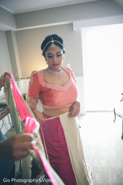 Getting Ready in Garden City, NY Indian Wedding by Gio Photography & Video